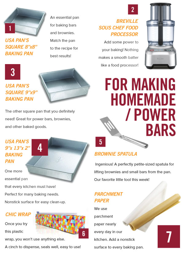 For Making Homemade Power Bars