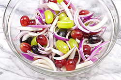 Tossed Grapes and Onions