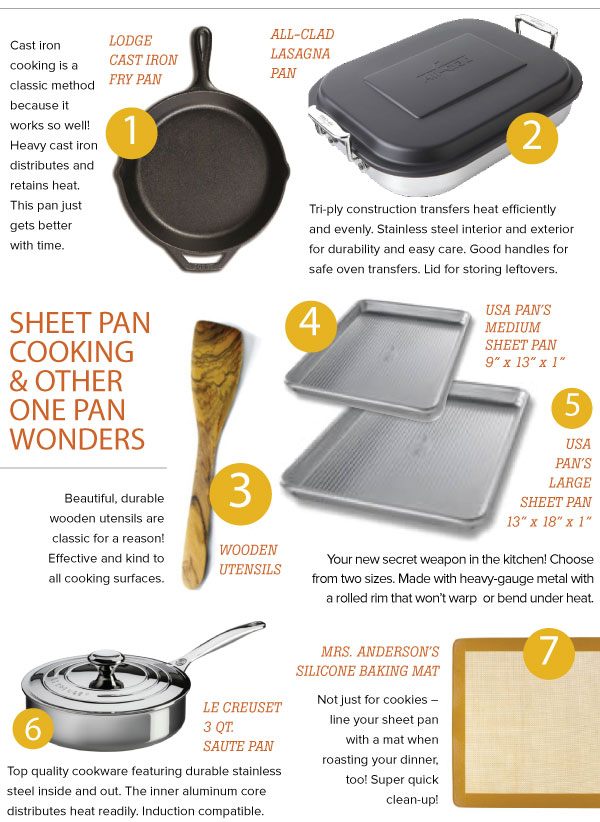 One Pan Oven Cooking