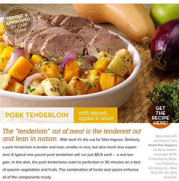RECIPE: Pork Tenderoin with Squash, Apples and Onion