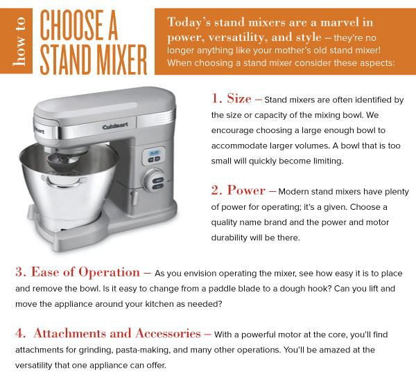 Choose a Stand Mixer