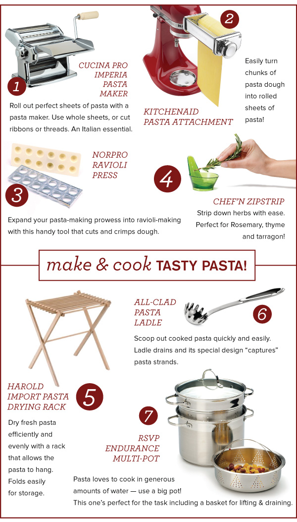 Pasta-Making Features
