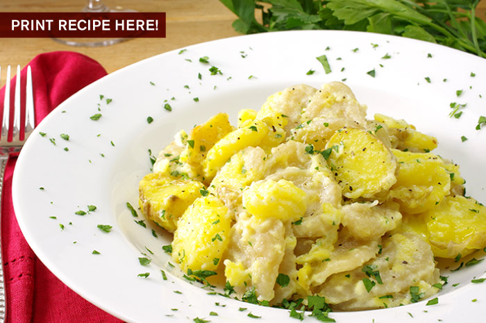 Sugeli with Potatos and Garlic