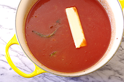 Butter in Tomato Sauce
