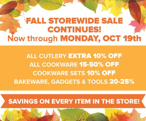 Fall Storewide Sale