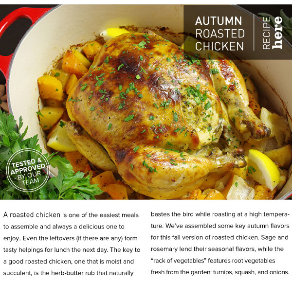 RECIPE: Autumn Roasted Chicken