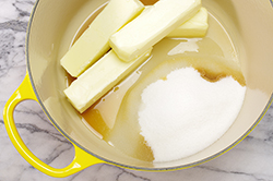 Butter and Sugar in Pot