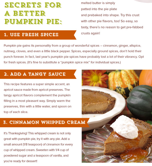 Secrets for a Better Pumpkin Pie