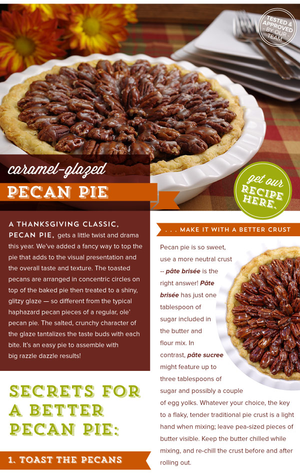 RECIPE:Caramel-Glazed Pecan Pie