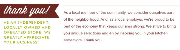 Thank You for Shopping Locally!