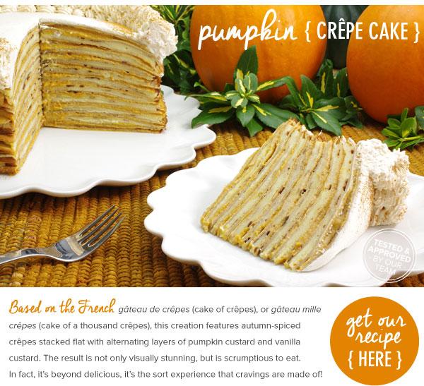 Pumpkin Crepe Cake