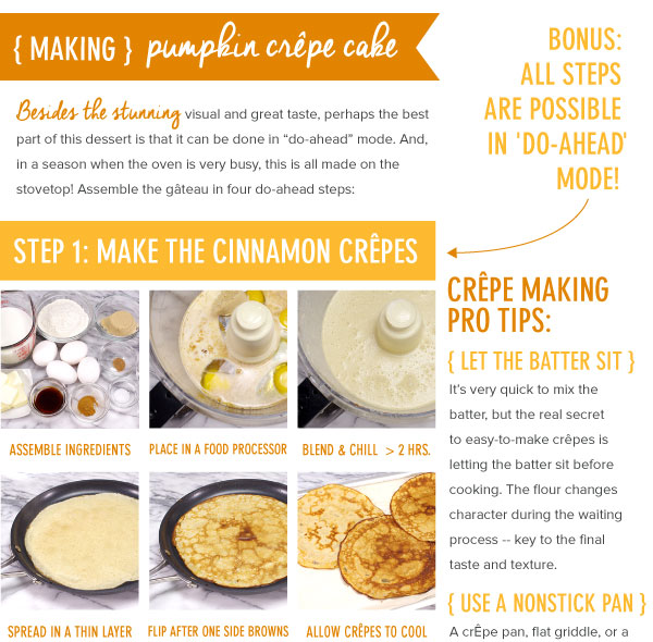 Making A Pumpkin Crepe Cake