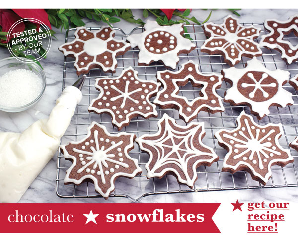 RECIPE: Chocolate Snowflakes