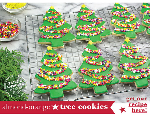 RECIPE: Almond-Orange Tree Cookies
