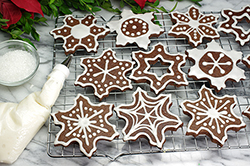 Chocolate Snowflakes