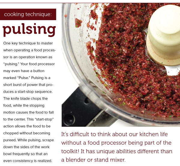 Cooking Technqque: Pulsing