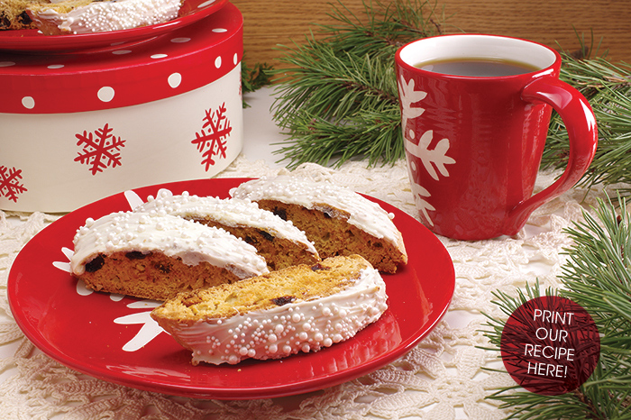 Cherry-Almond Holiday Biscotti