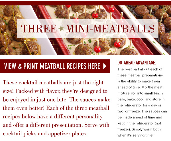 PRINT: Three Mini-Meatballs