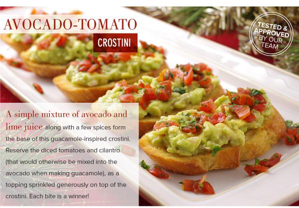 Avocado-Tomato Crostini