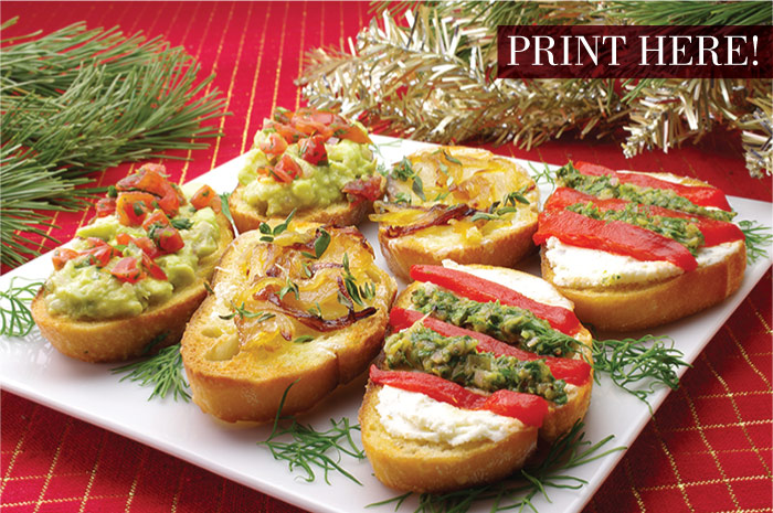 Three Festive Crostini