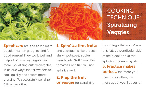 Cooking Technique: Spiralizing Veggies