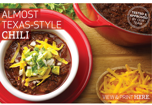 RECIPE: Almost Texas-Style Chili