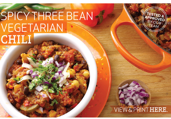 RECIPE: Spicy Three Bean Vegetarian Chili