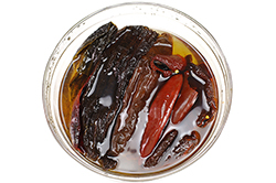 Rehydrating Dried Peppers