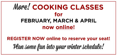 More Cooking Classes