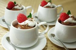 Chocolate Pots de Crème, Theo-Style