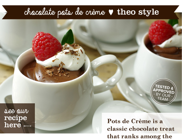 RECIPE: Chocolate Pots De Creme, Theo Style