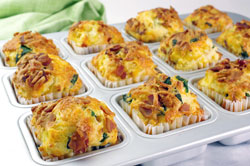 Savory Spinach, Bacon, and Cheese Muffins