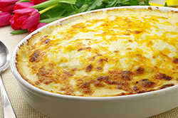 Three Cheese Potato Gratin