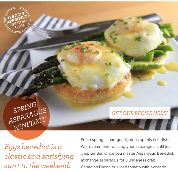 Spring Asparagus Benedict