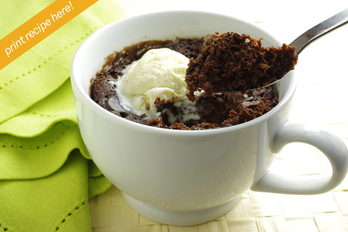 Warm, Chocolate Cake-In-a-Cup