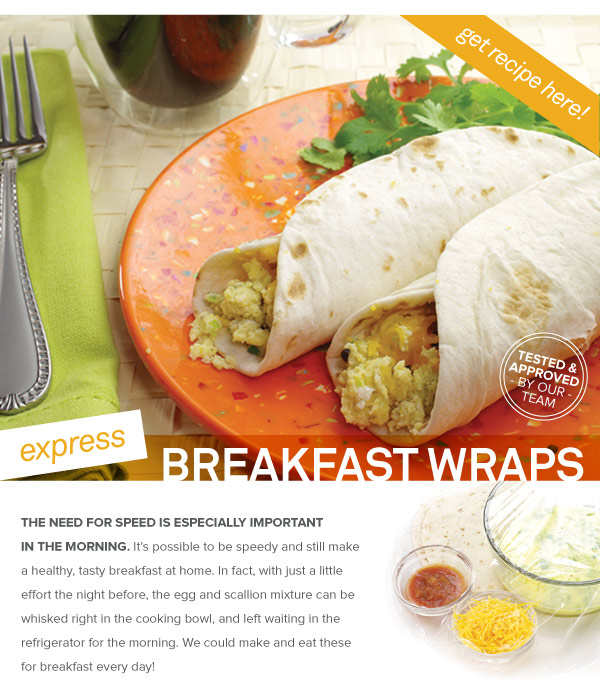RECIPE: Express Breakfast Wraps