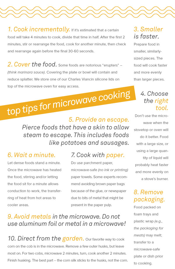Top Tips for Microwave Cooking
