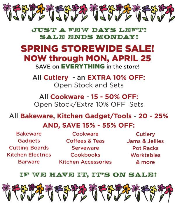 Spring STorewide Sale