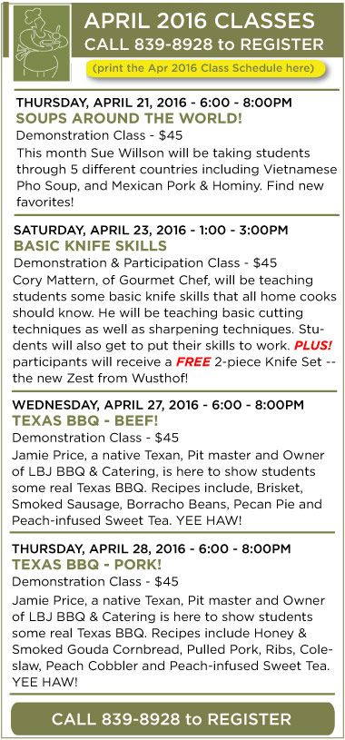 April Classes