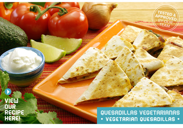 RECIPE: Quesadillas Vegetarianas