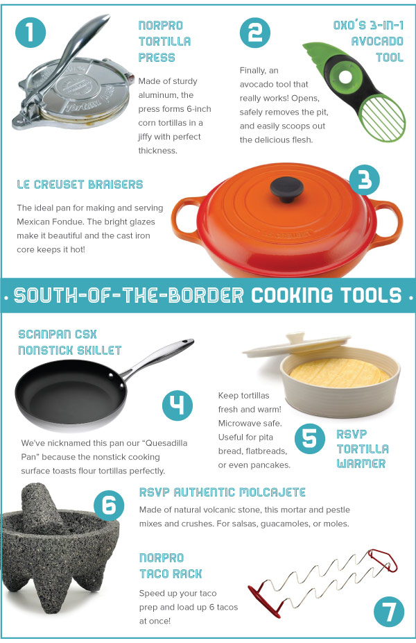 South of the Border Cooking Tools