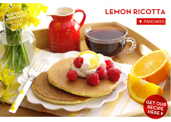 RECIPE: Lemon Ricotta Pancakes