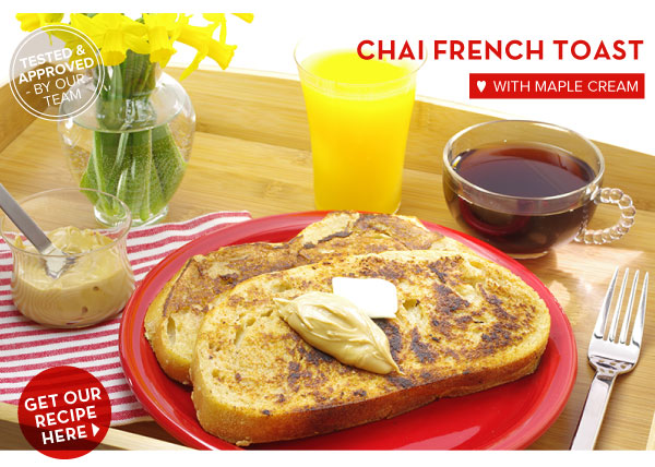 RECIPE: Chai French Toast with Maple Cream
