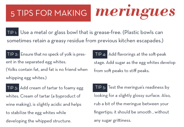 5 Tips for Making Meringues
