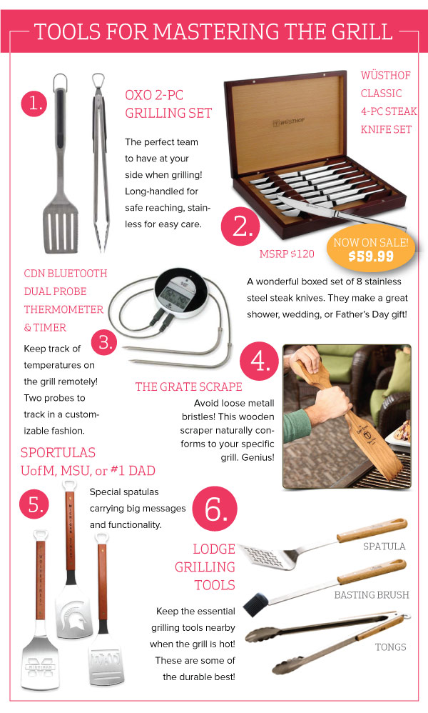 Tools for Mastering the Grill