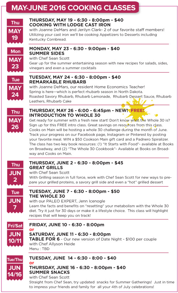 May-June Classes