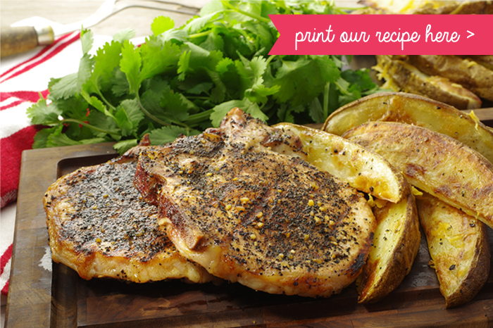 Grilled Coffee-crusted Pork Chops