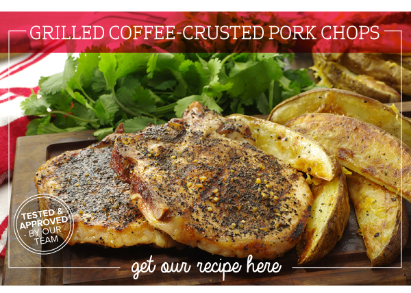 RECIPE: Grilled Coffee-Crusted Pork Chops