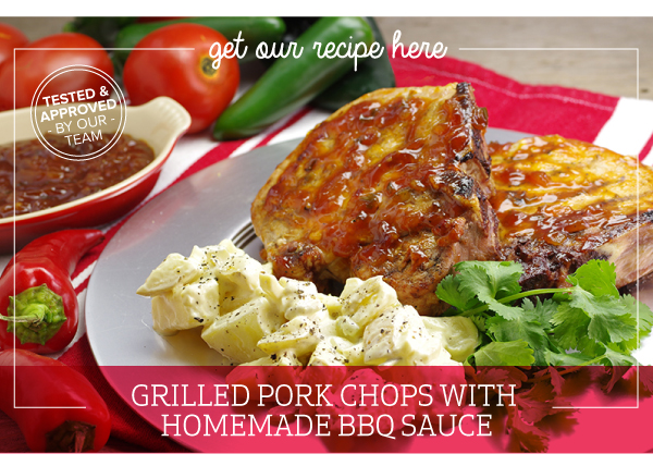 RECIPE: Grilled Pork Chops with Homemade BBQ Sauce