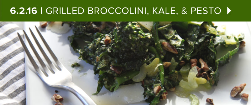 Grilled Broccolini and Pesto Salad